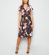 New Look Mela Floral Belted Wrap Midi Dress