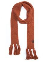 Muk Luks Women's Long Skinny Tassel Scarf - Pumpkin
