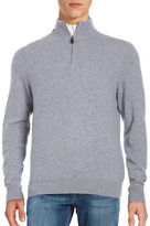 Black Brown 1826 Quarter Zip Cashmere Sweater