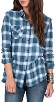 Volcom Women's Desert High Plaid Top