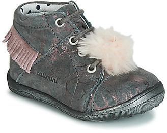 Catimini PEPITA girls's Shoes (High-top Trainers) in Grey