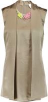 3.1 Phillip Lim Embellished silk-satin top