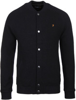 Farah Macauley Black Knitted Bomber Jacket