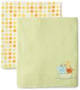 SpaSilk Unisex-baby Newborn 2 Pack Thermal Receiving Ark Blanket