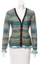 M Missoni Knit V-Neck Cardigan