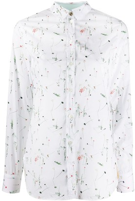 Paul Smith Floral Print Long Sleeve Shirt