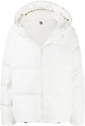 Bacon Drawstring Hem Puffer Jacket