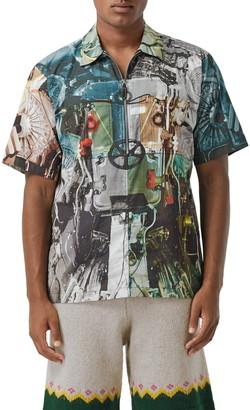 Burberry Hydeshirt Half Zip Popover Shirt