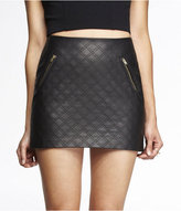 Express (Minus The) Leather Quilted Mini Skirt