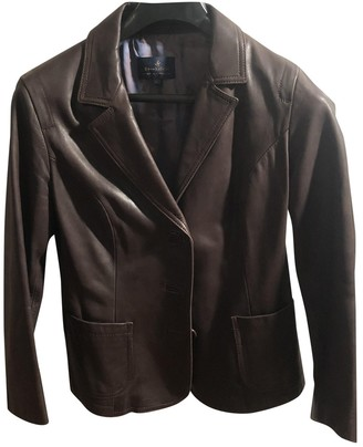 Brooksfield Brown Leather Jacket for Women