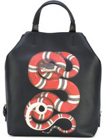 Gucci kingsnake print backpack - men - Leather - One Size