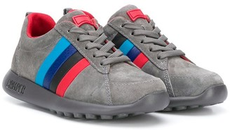 Camper Kids Striped Lace-Up Sneakers