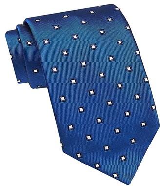 David Donahue Geometric Neat Tie (Chocolate) Ties