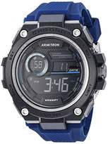 Armitron Sport Men's Digital Chronograph Navy Silicone Strap Watch