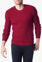 7 For All Mankind Crewneck Sweater In Red