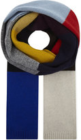 Dries Van Noten Block Stripe Wool Scarf