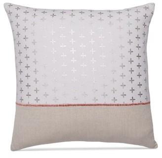 Martha Stewart Cotton Floral Throw Pillow