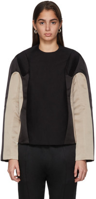 Haider Ackermann Black Contrast Weddel Blouse