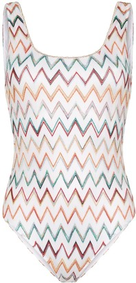 Missoni Mare Zigzag Crochet One-Piece Swimsuit