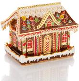 """JAY By Jay Strongwater JAY Jay Strongwater """"Deck the Halls"""" Multicolor Enamel and Crystal Gingerbread House Trinket Box"""