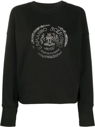 Ermanno Scervino Crystal Logo Embellished Sweatshirt