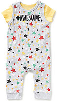 Baby Starters Baby Boys 3-9 Months Star-Print Coverall & Solid Bodysuit Layette Set