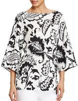 Lauren Ralph Lauren Paisley Print Crepe Tunic Top