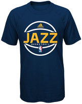adidas Boys' Utah Jazz Practice Wear Ultimate T-Shirt