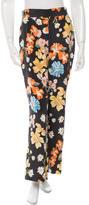 Sea Floral Wide Leg Pants