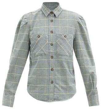 Etoile Isabel Marant Falco Checked Twill Shirt - Green