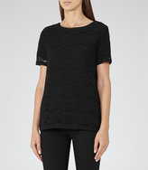 Reiss Rayee Lace T-Shirt