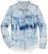 DL1961 Girls' Frayed Tie-Dye Shirt - Big Kid