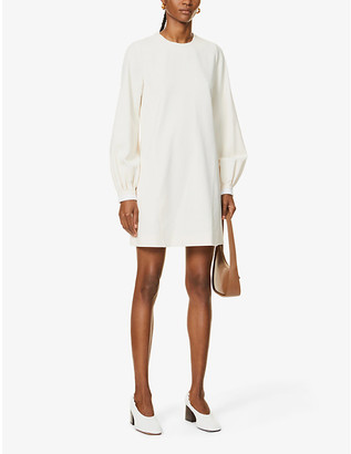 Victoria Victoria Beckham Bell sleeve stretch-twill mini dress