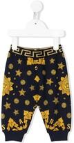 Versace logo print elasticated waist track pants