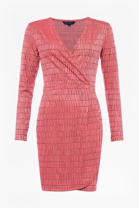 French Connection Linear Jacquard Dress