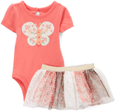 Baby Starters Dark Pink Butterfly Bodysuit & Tutu - Infant