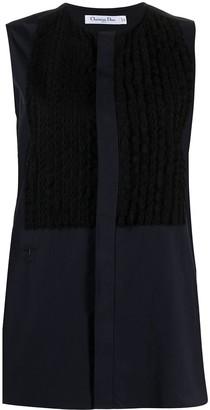 Christian Dior Pre-Owned Bib-Detail Sleeveless Shirt