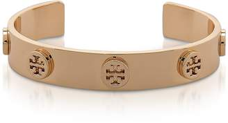 Tory Burch Tory Gold Logo Studded Cuff Bracelet