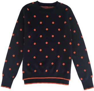 Iggy & Burt Spot Jumper Navy & Orange