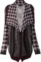 Yigal Azrouel multi knit cardi-coat