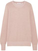 Equipment Sloane Metallic Wool-blend Sweater - Pastel pink