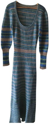 Jacquemus La Collectionneuse Blue Wool Dresses