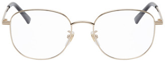 Gucci Gold Oval Glasses