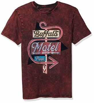 Buffalo David Bitton Men's Short Sleeve Crew Neck t-Shirt with Over Dyed wash
