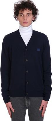 Acne Studios Cardigan In Blue Wool