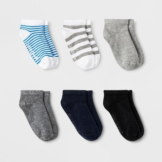 Cat & Jack Toddler Boys' 6pk Low Cut Stripped Socks - Cat & JackTM
