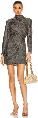 IRO Raslie Dress in Black & Gold | FWRD