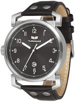 "Vestal Genuine Leather & Stainless Steel Watch ""Observer"""