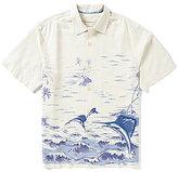 Tommy Bahama Short-Sleeve Santiago Sailfish Printed Woven Silk Shirt