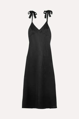 Reformation Silk Maxi Dress - Black